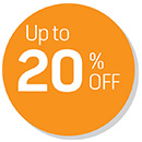 Up to 20% OFF Deals