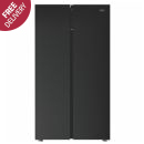 Defy: Fridge Freezer Side by Side - Black