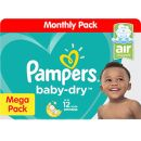 Pampers: Baby Dry -Mega Pack Assorted Sizes