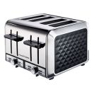 Russell Hobbs: RHDDT01 4-Slice Diamond Toaster-Black