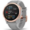 Garmin: Fenix 6S Sapphire Watch with Grey Band - Rose Gold